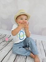 Personalized Baby Boy Pants Outfit Denim Look