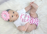 Chevron Baby Girl Clothes Pink & Gray