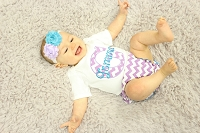 Chevron Baby Girl Outfit  Lavender Turquise
