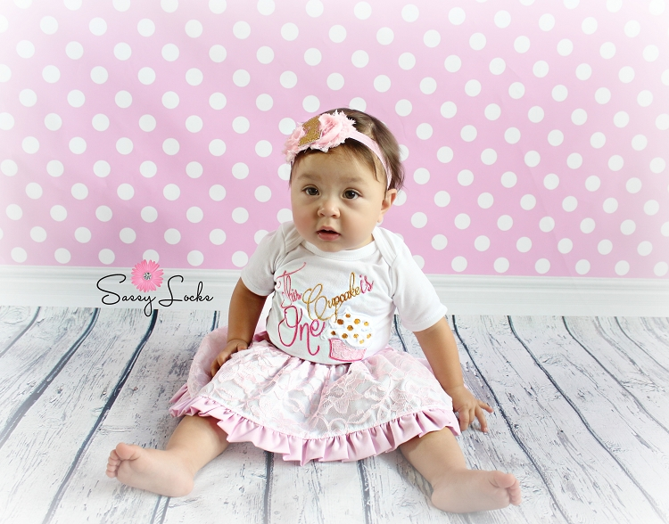 Baby Girl First Birthday Outfit This Cupcake Is e