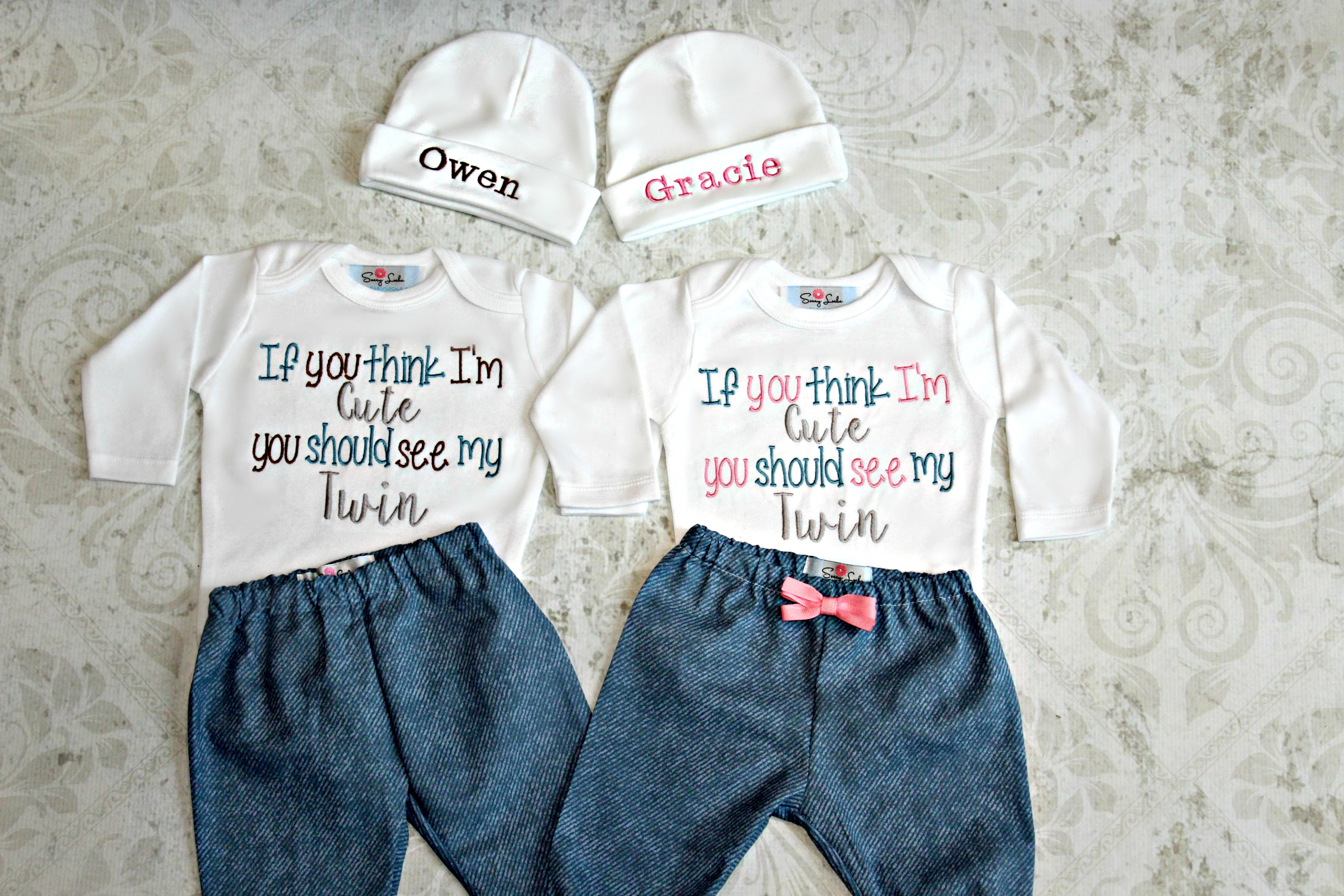 Twins Outfit / You choose Boy/Boy Girl/Girl or Boy/Girl Twins