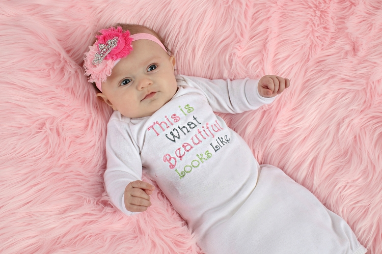 Baby Girl Layette Gown / This is What Beautiful Looks Like