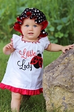 Ladybug Baby Girl Dress / Headband & Bonnet Options