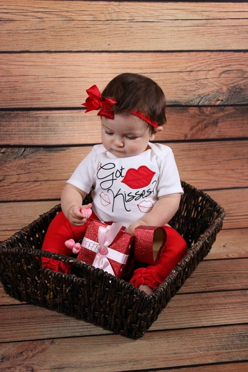 Baby Girl Clothes Valentine S Day Bodysuit Got Kisses Sassy Locks