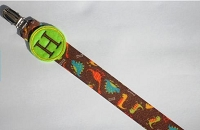 Monogram Pacifier Clip for Baby Boy Dinosaurs Paci Clip