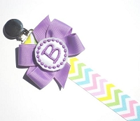 Personalized Pacifier Clip Chevron