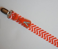 Personalized Baby Pacifier Clip Monogram Tie Pacifier Holder Chevron Baby Boy Tie Personalized Baby Soothie