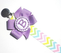 Personalized Pacifier Clip Chevron Monogram Pacifier Clip Personalized Baby Pacifier Holder