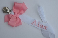 Monogram Pacifier Clip Baby Girl Personalized Pacifier Holder