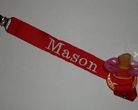 Monogram Pacifier Clip Baby Boy Personalized Pacifier Holder