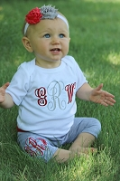 Monogram Baby Girl Outfit