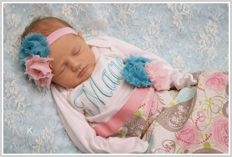 Baby Girl Layette Gown | Sassy Locks