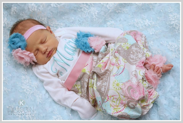 Baby Girl Layette Gown Sassy Locks
