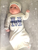Personalized Baby Boy Layette Set Blue