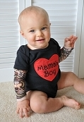 Baby Boy Tattoo Sleeve Bodysuit / Mamma's Boy