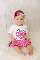 Miss. One Derfutl 1st Birthday Girl Outfit