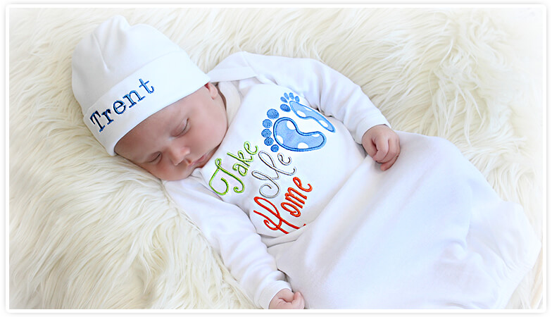 Personalized and Monogrammed Baby Clothing