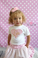 Toddler Girl Clothes Lace Heart Love