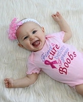 Breast Cancer Shirt Breast Cancer Awareness Baby Girl Clothes Find a Cure Before I Grow Boobs