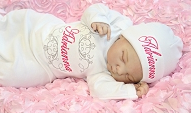 Newborn Girl Personalized Layette Gown