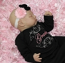 Newborn Personalized Baby Girl Gown