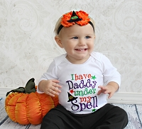 Baby Girl Halloween Outfit I have Daddy Under My Spell