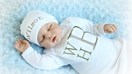 Monogram Baby Boy Clothes / 3 Letter Monogram Layette
