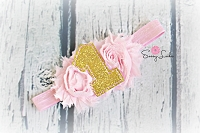 1 St Birthday Headband Glitter Gold 1