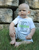 Personalized Boy Outfit / Build your outfit Gray & Lime Green
