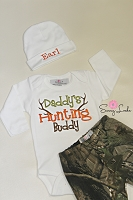 Deer Hunting Baby Boy Clothes with  Personalized Hat Pants Options
