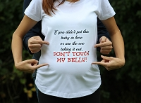 Don't Touch My Belly Maternity Sirt