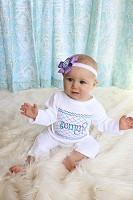 Personalized Baby Girl Romper /  Smock