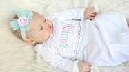 Newborn Baby Girl Layette Gown