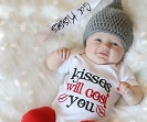Baby Valentine's Day Bodysuit. Baby Boy / Baby Girl / Kisses Will Cost You
