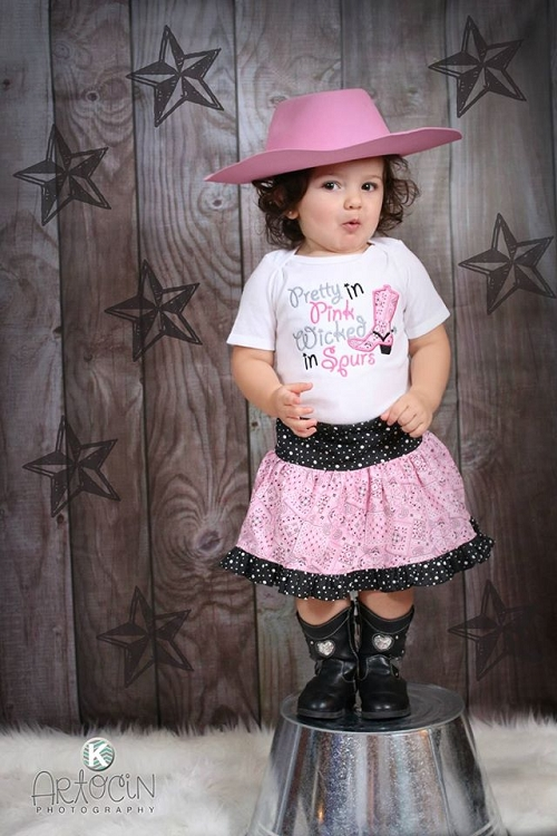 Cowgirl Outfit Pretty In Pink Wicked In Spurs Skirt Outfit