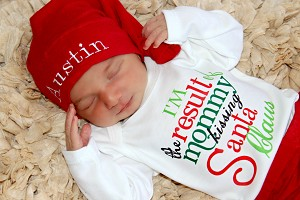 Christmas Outfit  I'm The Result of Mommy Kissing Santa Claus