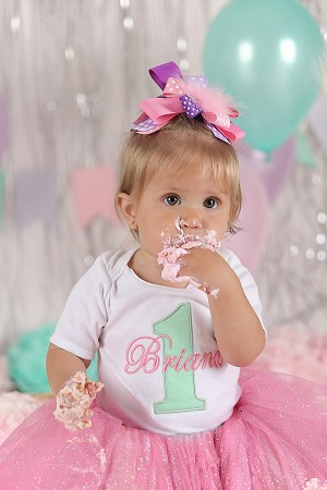 Baby Girl First Birthday Bodysuit