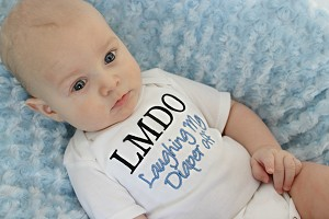 LMDO Baby Boy or Baby Girl Funny Baby Shirt