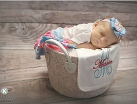 Personalized Burp Cloth Newborn Baby Gift Can Be Made to Match any outfit
