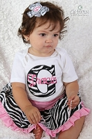 Personalized Baby Girl Zebra Outfit