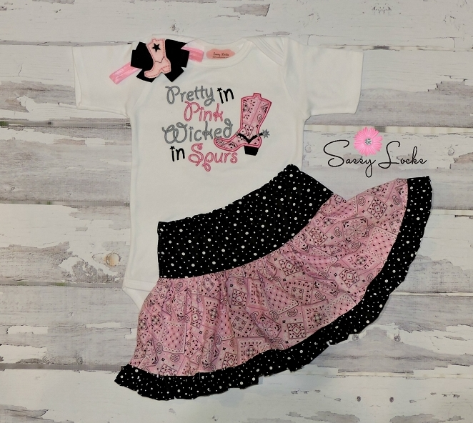 589ab854b34b4 Cowgirl Outfit   Pretty in Pink Wicked in Spurs Skirt Outfit