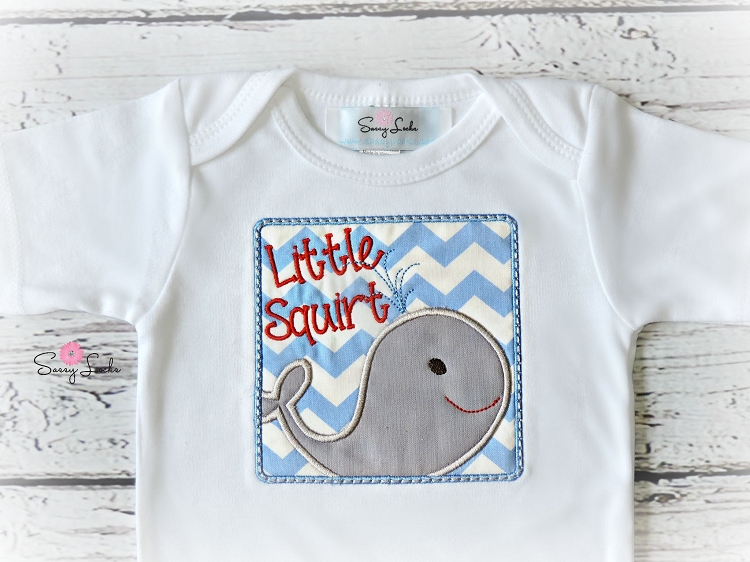 Baby Boy Clothes Little Squirt Whale Outfit