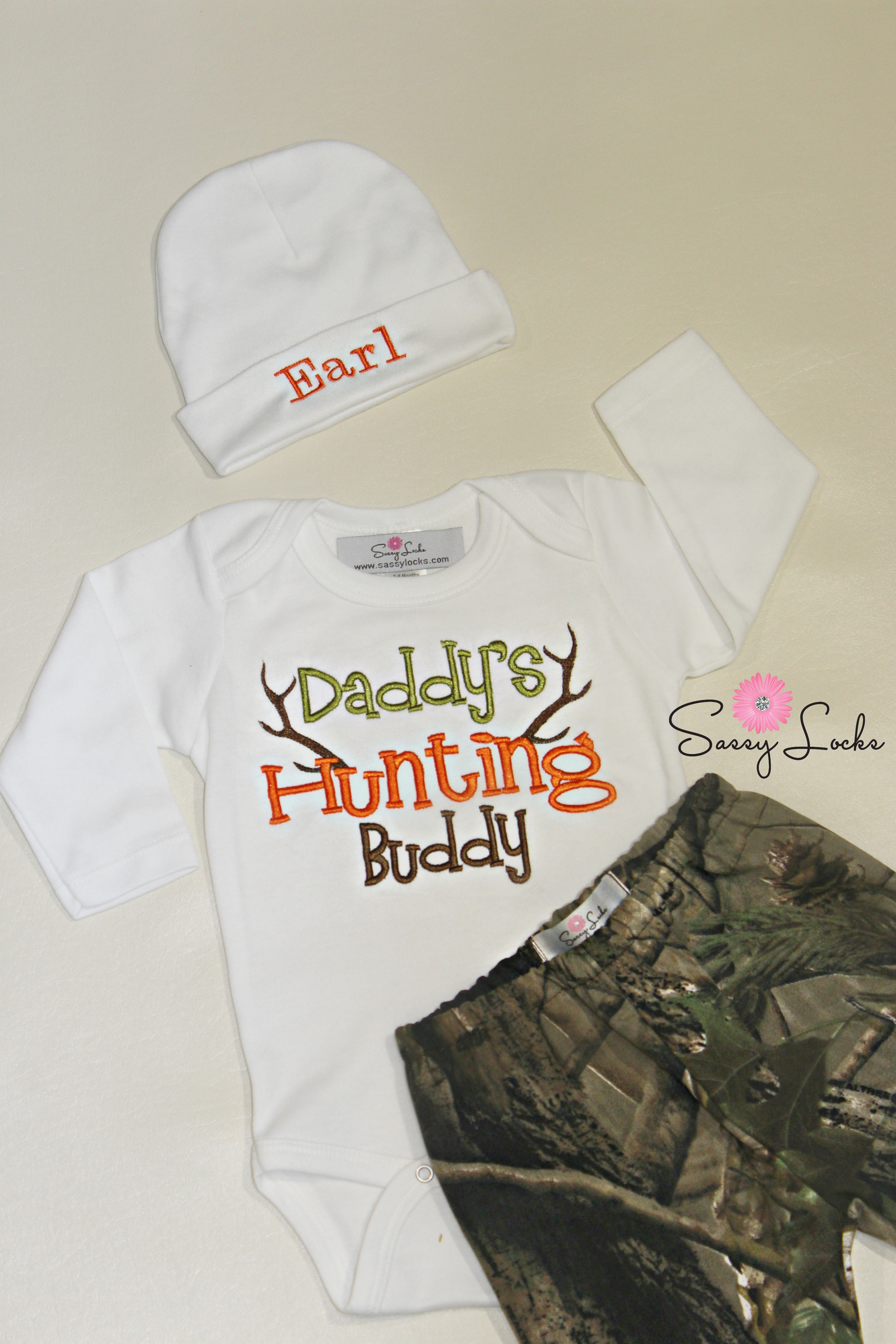 Deer Hunting Baby Boy Clothes With Personalized Hat Pants
