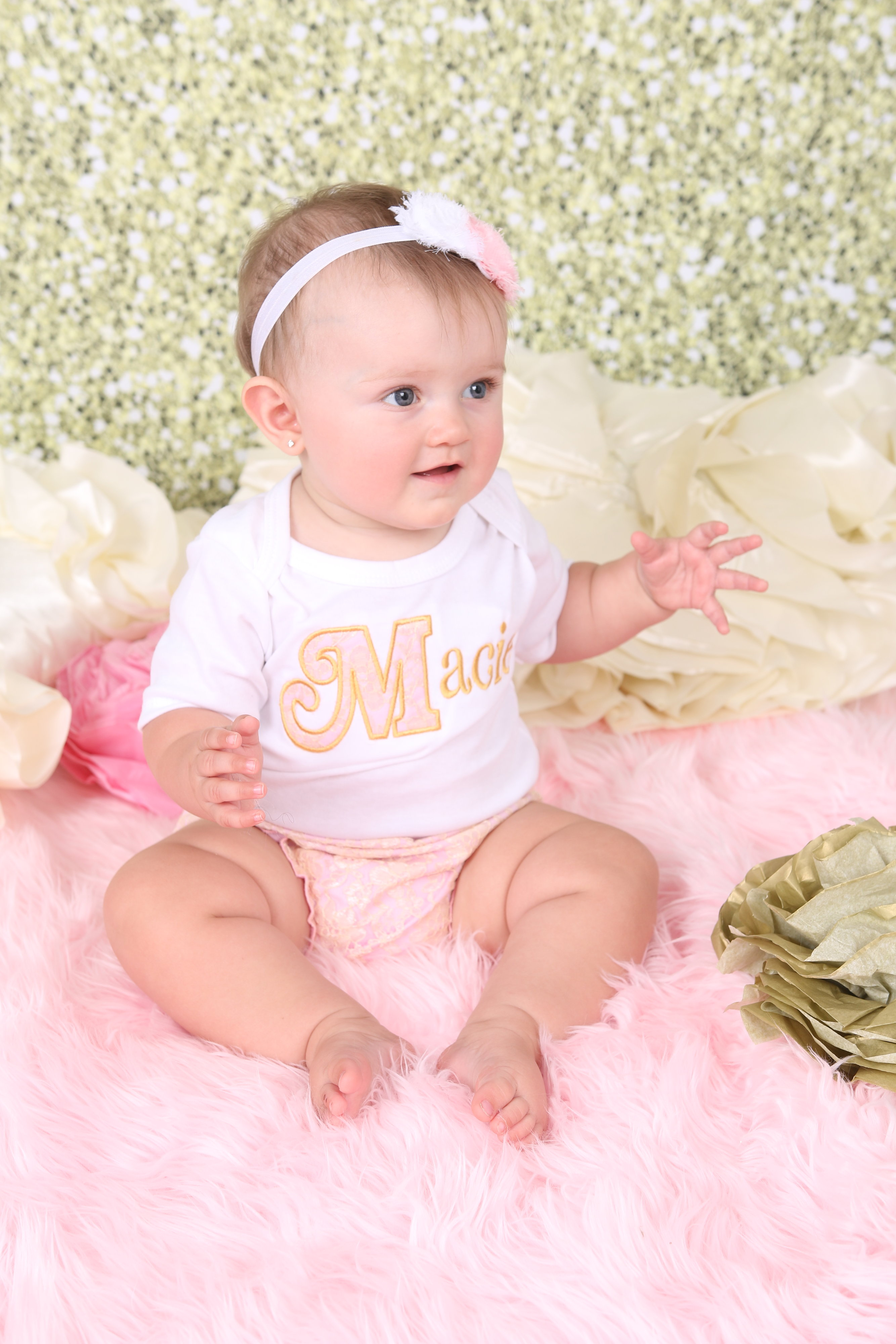 Personalized Baby Girl Clothes / Shabby Chic Lace Pink and ...