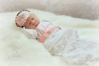 Personalized Baby Girl Layette Gown / Shabby Chic Ruffles