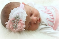 Tiara Headband / Shabby Chic Flowers