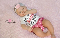 Baby Girl Clothes New Doll in Town Outfit with Diaper Cover and Headband