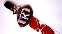 Monogrammed Football Pacifier Clip