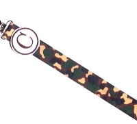 Monogram Camo Pacifier Clip for Baby Boy