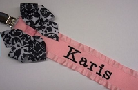 Personalized Pacifier Clip Monogram Pacifier Clip Personalized